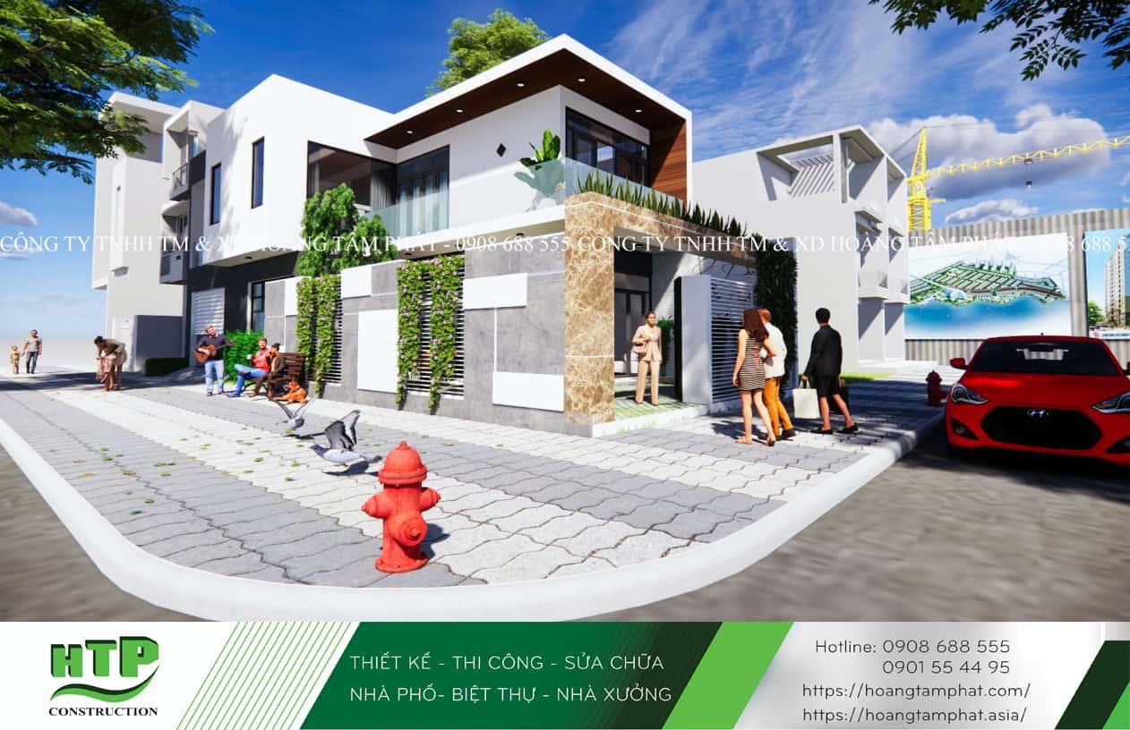 Phối cảnh 3D thiết kế nhà phố tại Vũng Tàu